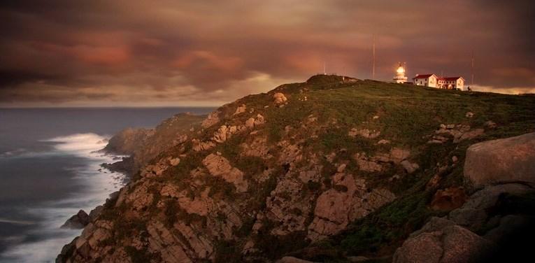 La Estaca de Bares a la hora del crepúsculo.