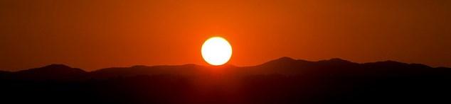 Puesta de sol en la montaña de Pol.