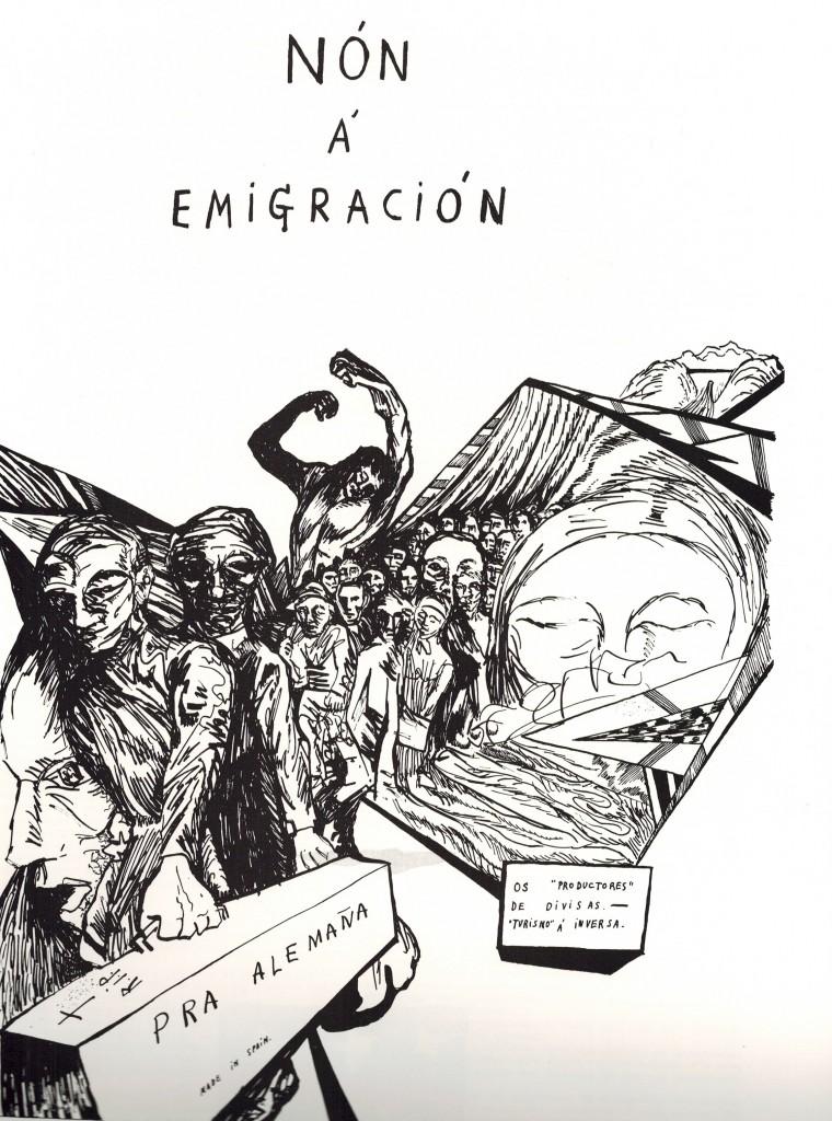 (Dibujo de Raimundo Patiño - Vieiros 1968). La historia se repite...