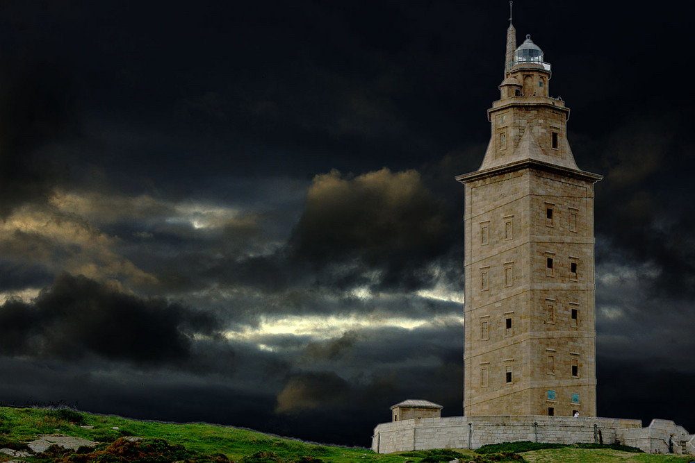 Torre de Hercules antigua.