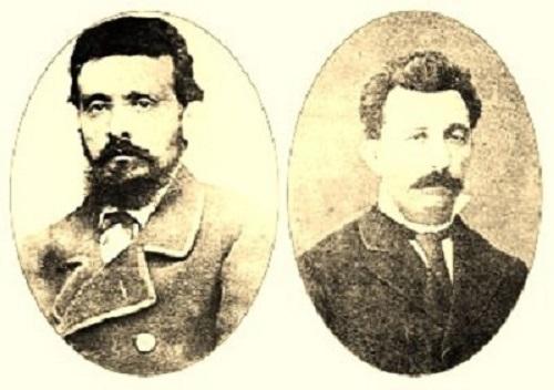 Eduardo Pondal y Pascual Veiga, autores del Himno Galego.