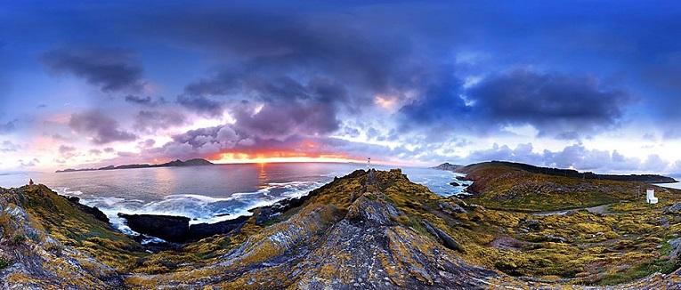 Increible foto de Anxo Rial de Cabo de Home en invierno, con las Cíes al fondo. (3)