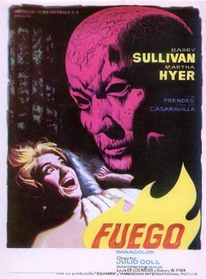 """Reproducción del cartel de la película """"Fuego"""", estrenada en 1963 y que se pudo ver al año siguiente en Chantada en el antiguo Cine Yeca. (Archivo: A.P.)"""
