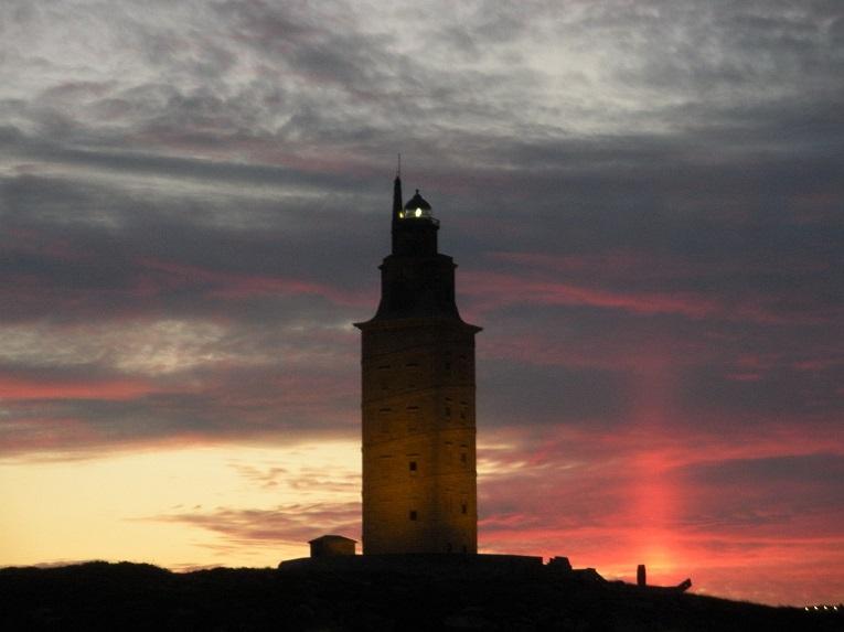 Atardecer en la Torre de Hércules. (2)