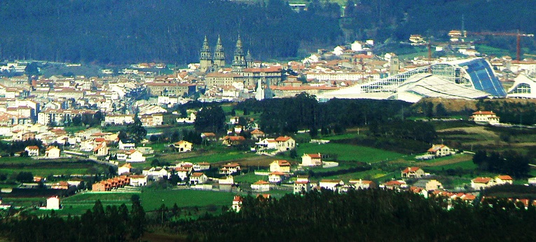 Compostela desde el Pico Sacro