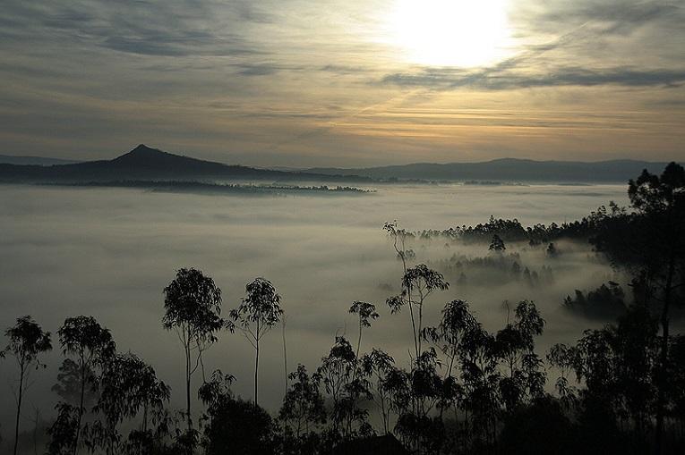 El-Pico-Sacro-envuelto-en-la-niebla-del-Ulla...