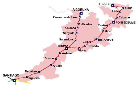 6 Mapa Camino Ingles