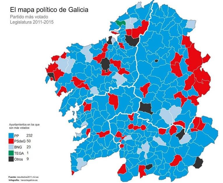1 MAPA POLÍTICO DE GALICIA