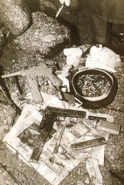 Armas encontradas por la Guardia Civil en poder de O Piloto. (Archivo: A.P.)